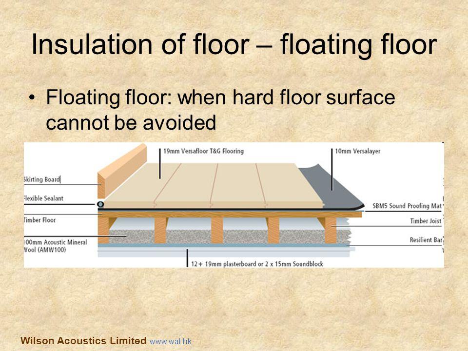 Insulation of floor – floating floor