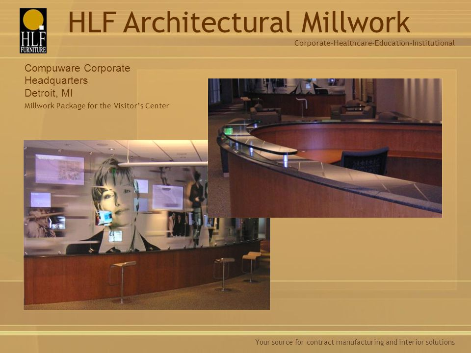 Millwork Package for the Visitor's Center