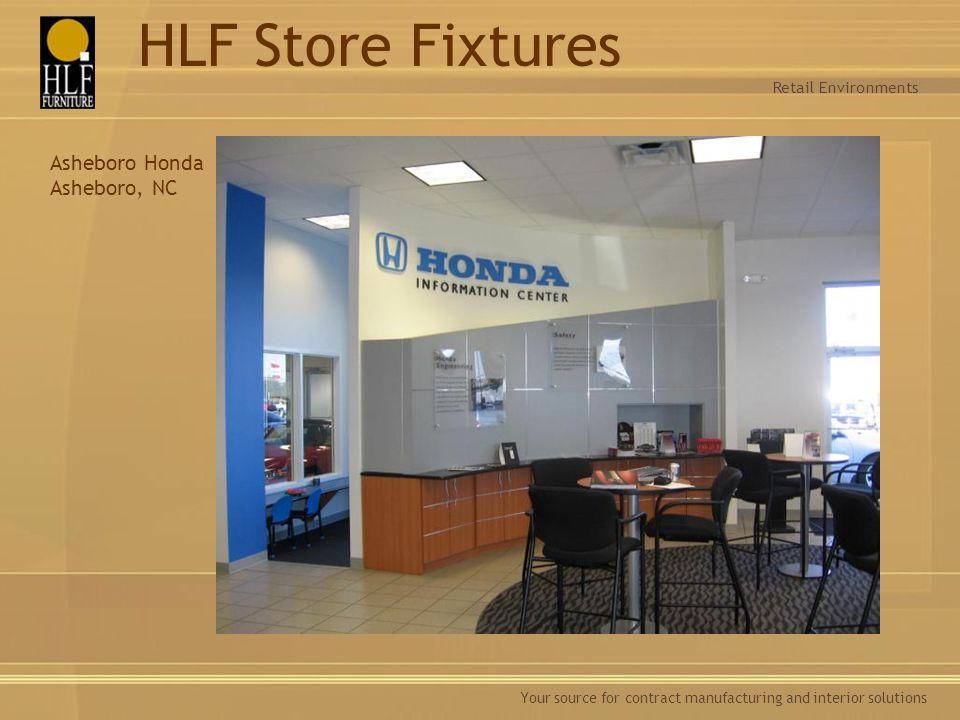 HLF Store Fixtures Asheboro Honda Asheboro, NC