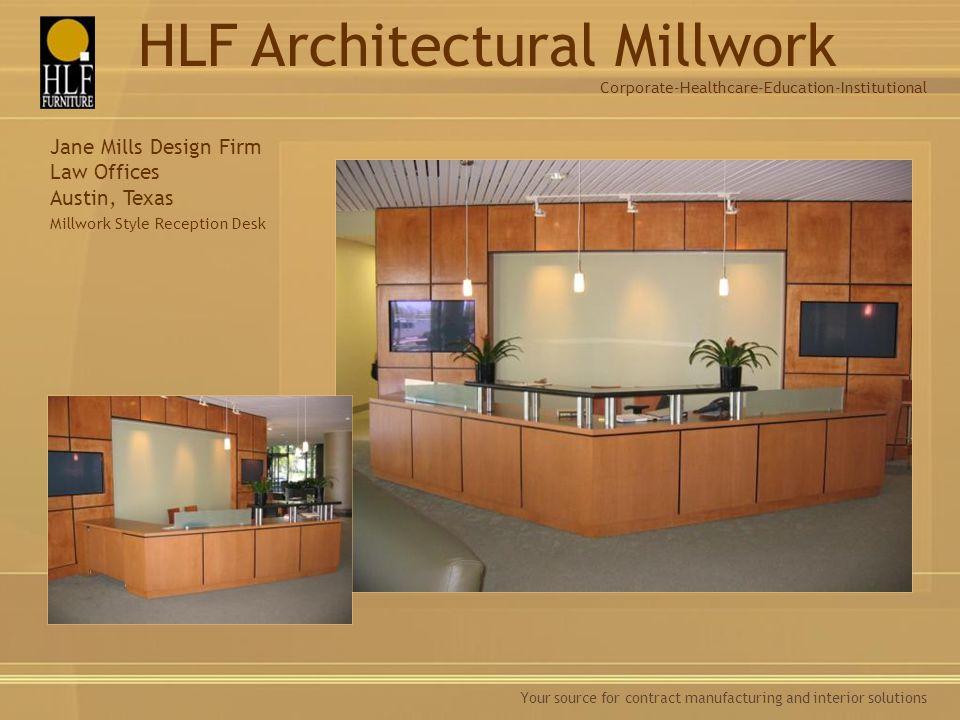 Millwork Style Reception Desk