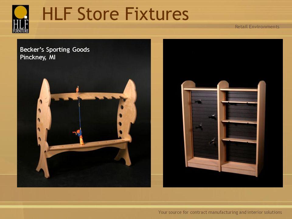 HLF Store Fixtures Becker's Sporting Goods Pinckney, MI