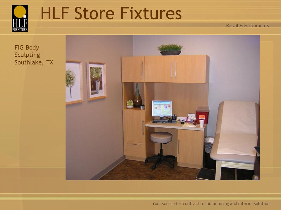 HLF Store Fixtures FIG Body Sculpting Southlake, TX