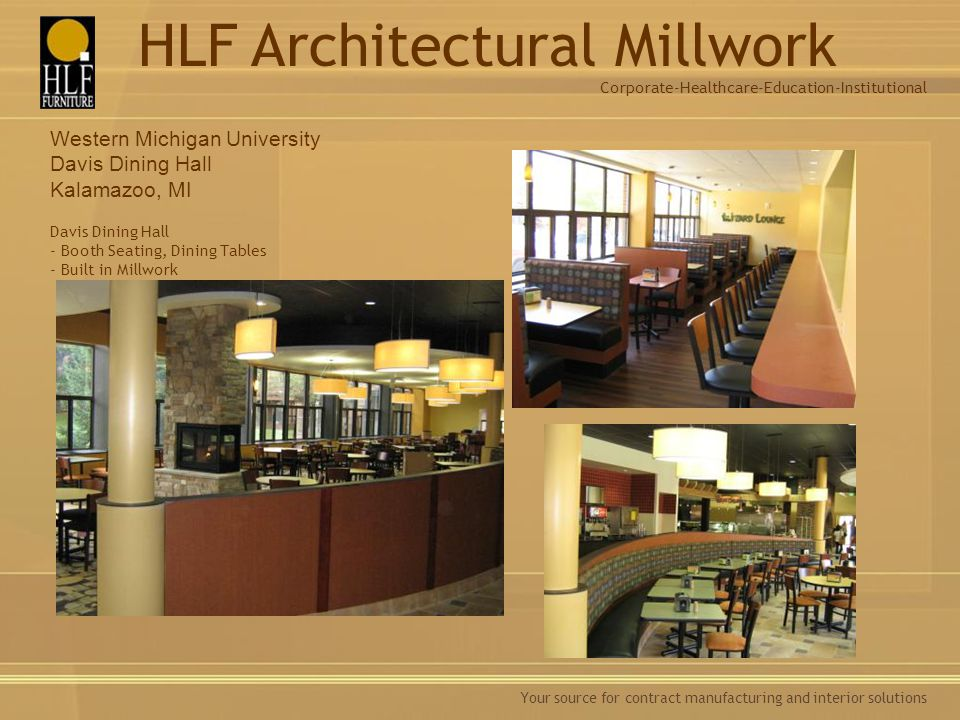 Davis Dining Hall - Booth Seating, Dining Tables - Built in Millwork