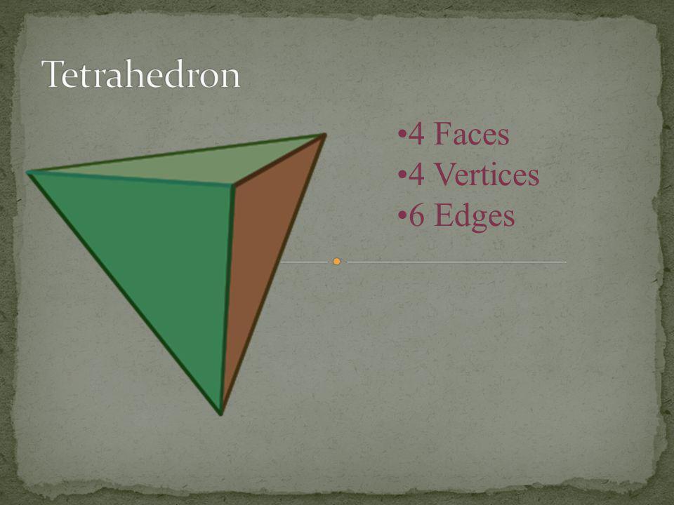 Tetrahedron 4 Faces 4 Vertices 6 Edges