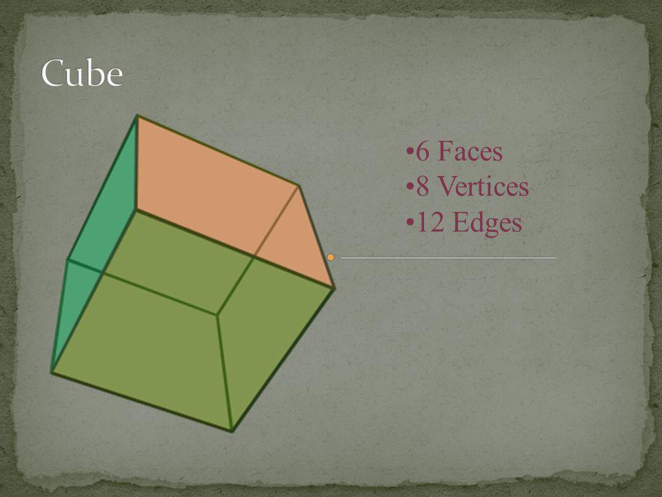 Cube 6 Faces 8 Vertices 12 Edges