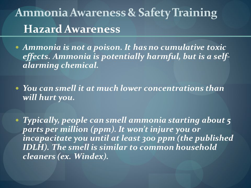 Ammonia Awareness & Safety Training