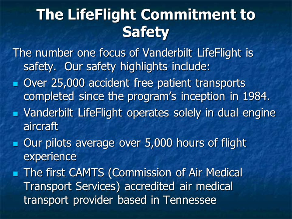 The LifeFlight Commitment to Safety