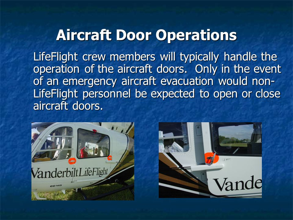 Aircraft Door Operations