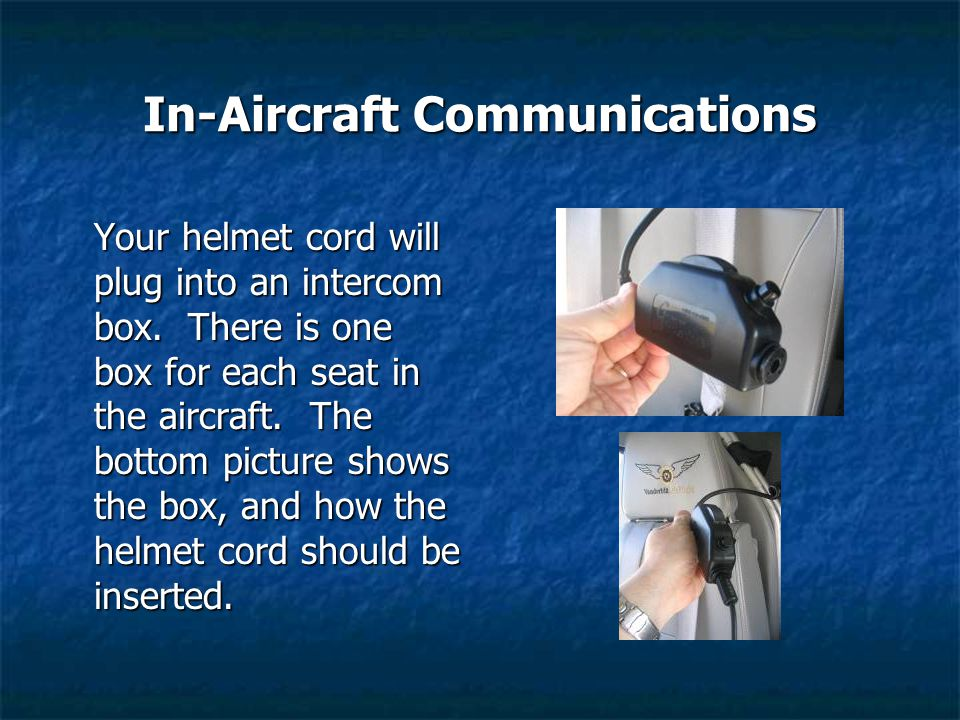 In-Aircraft Communications