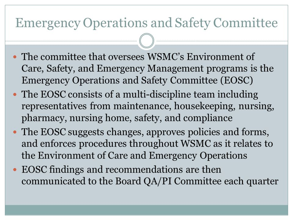 Emergency Operations and Safety Committee