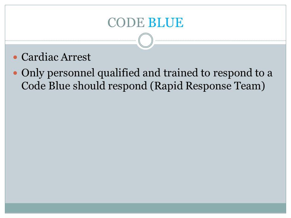 CODE BLUE Cardiac Arrest