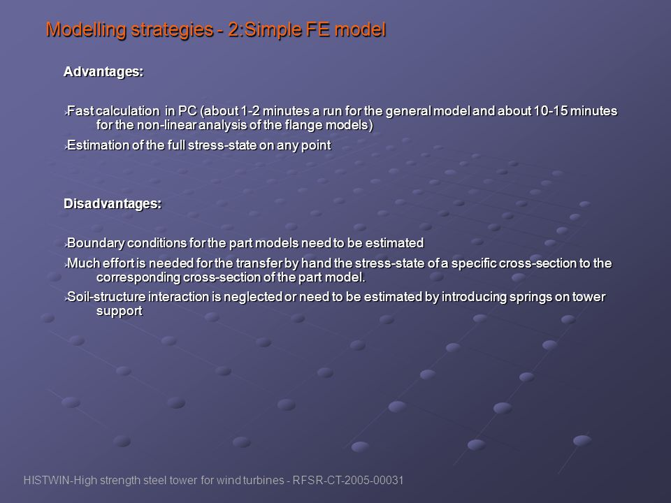 Modelling strategies - 2:Simple FE model