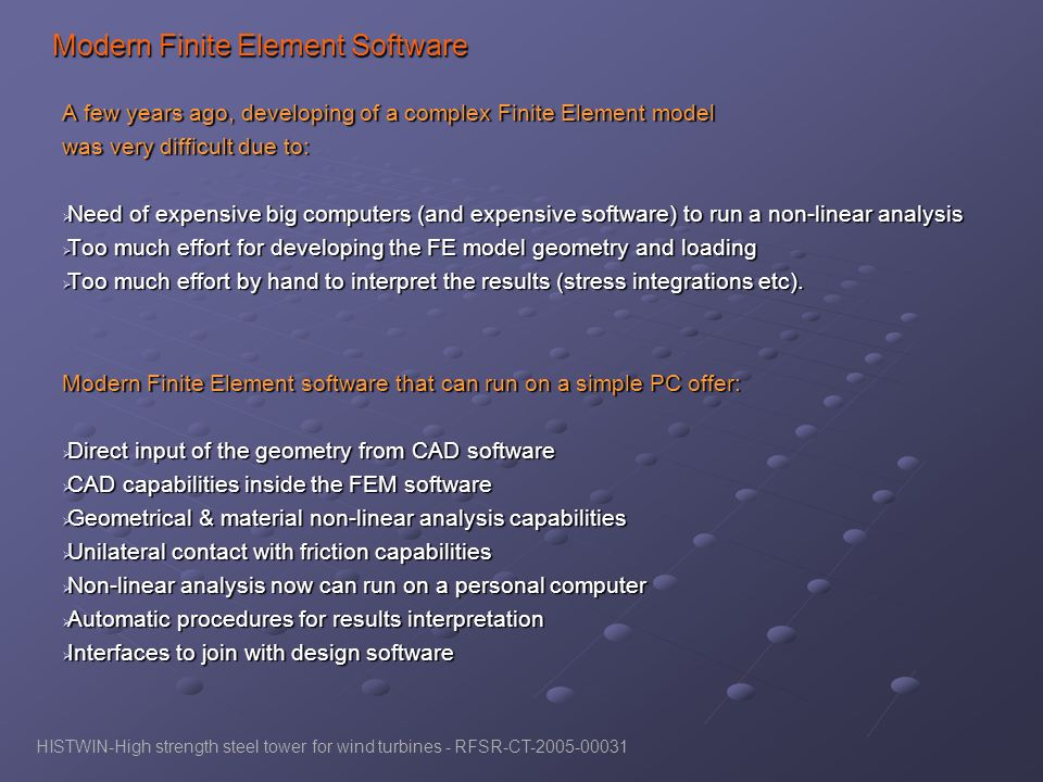 Modern Finite Element Software