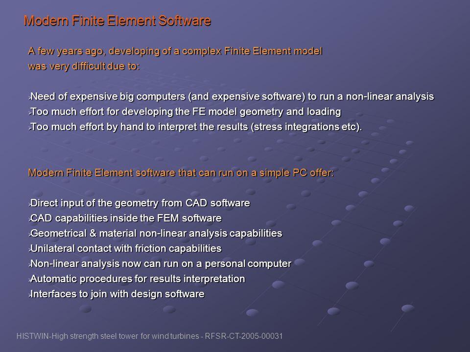 Modern Finite Element Software