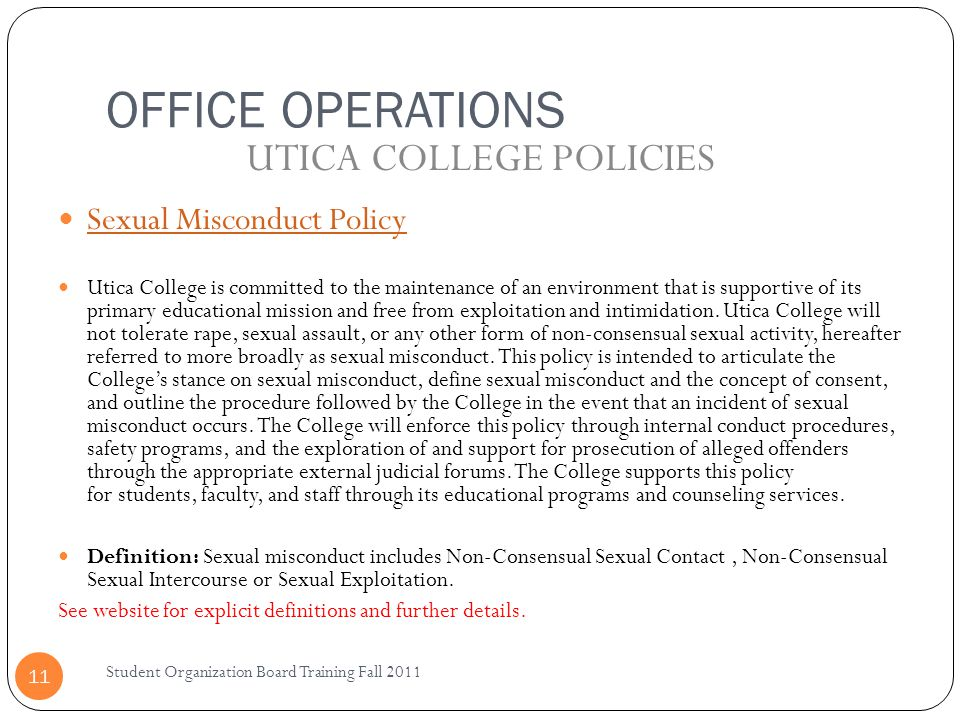 UTICA COLLEGE POLICIES