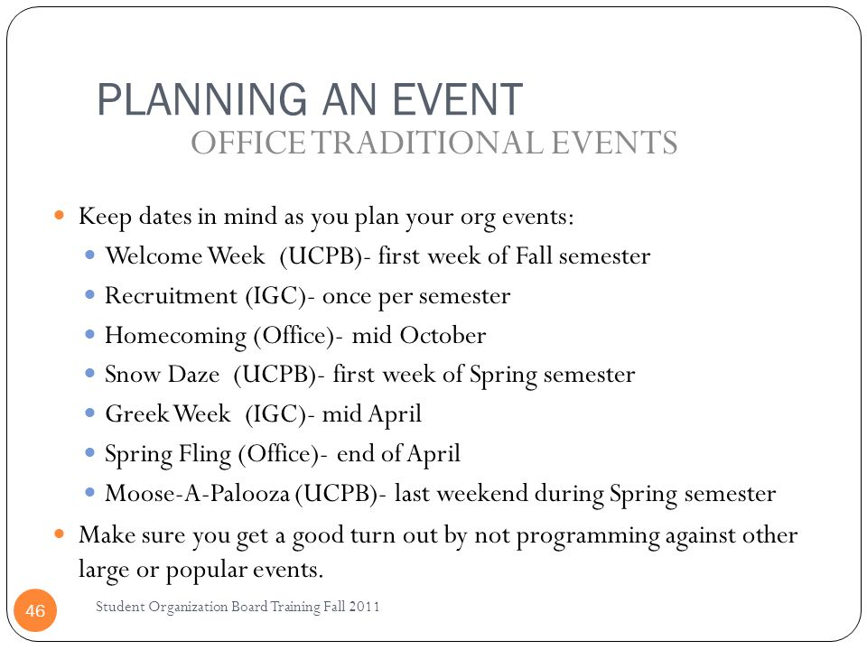 OFFICE TRADITIONAL EVENTS