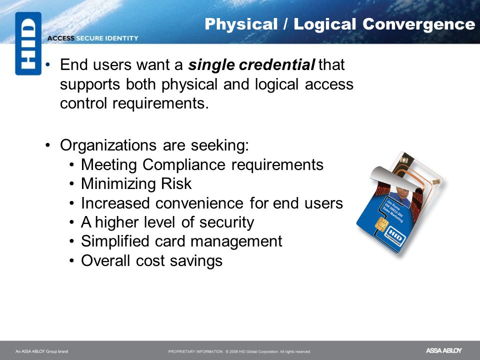 Physical / Logical Convergence
