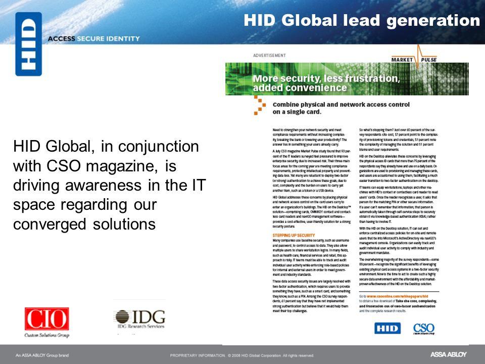 HID Global lead generation
