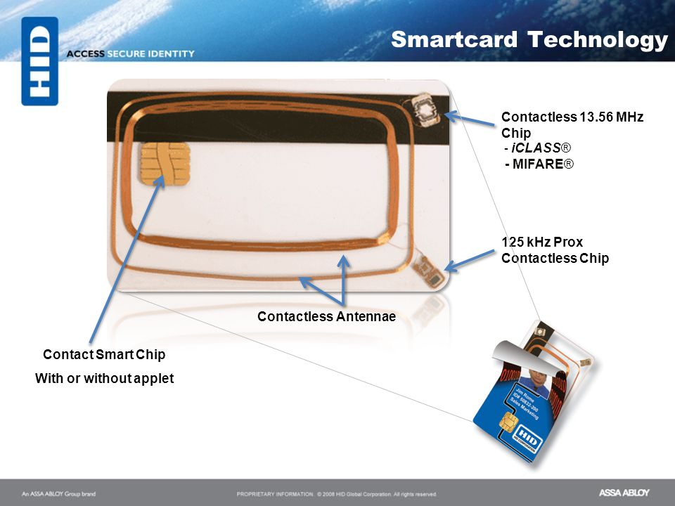 Smartcard Technology Contactless 13.56 MHz Chip - iCLASS® - MIFARE®