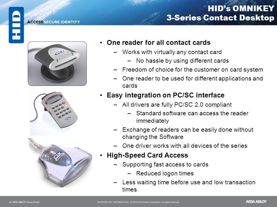 HID's OMNIKEY 3-Series Contact Desktop