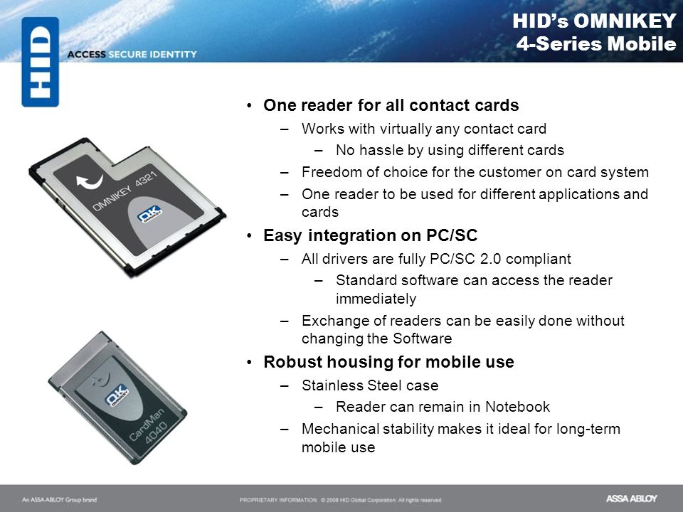 HID's OMNIKEY 4-Series Mobile