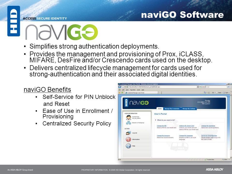 naviGO Software Simplifies strong authentication deployments.