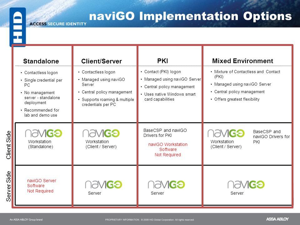 naviGO Implementation Options