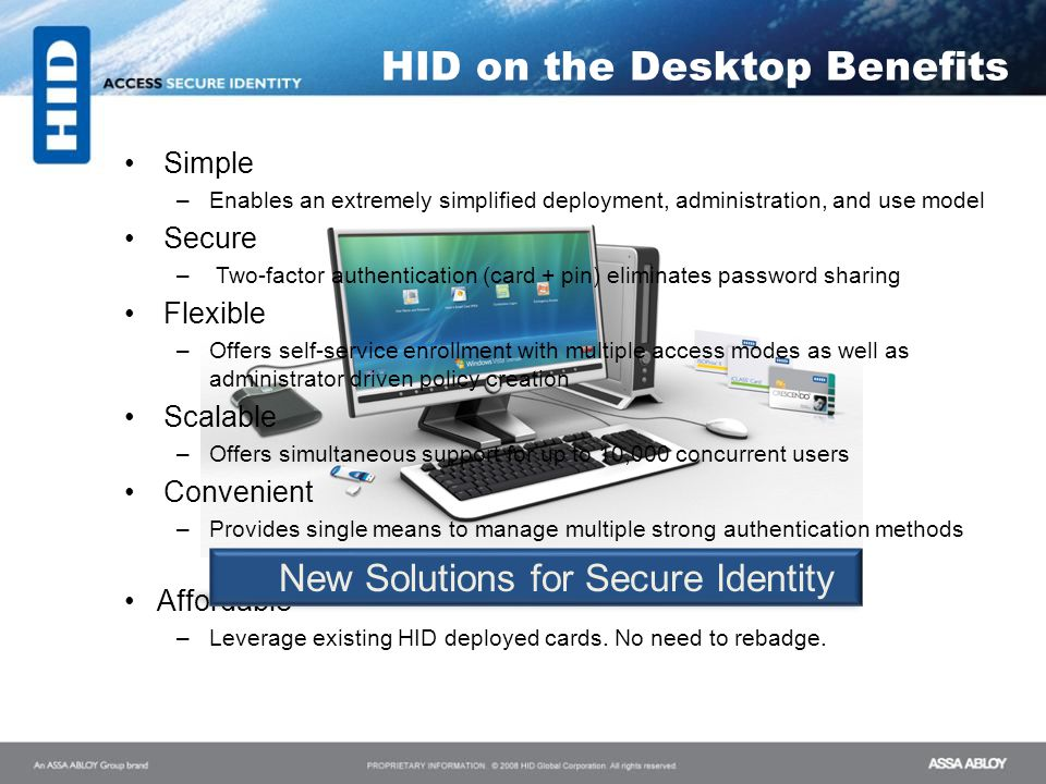 New Solutions for Secure Identity