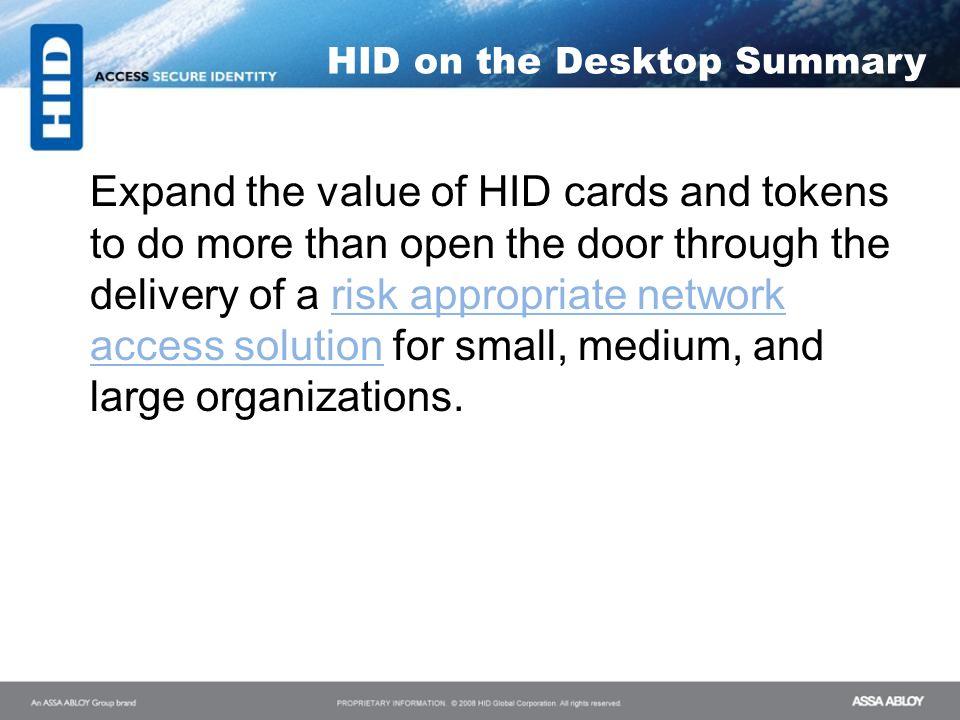 HID on the Desktop Summary
