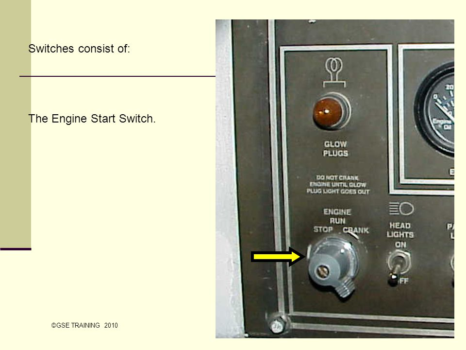 The Engine Start Switch.