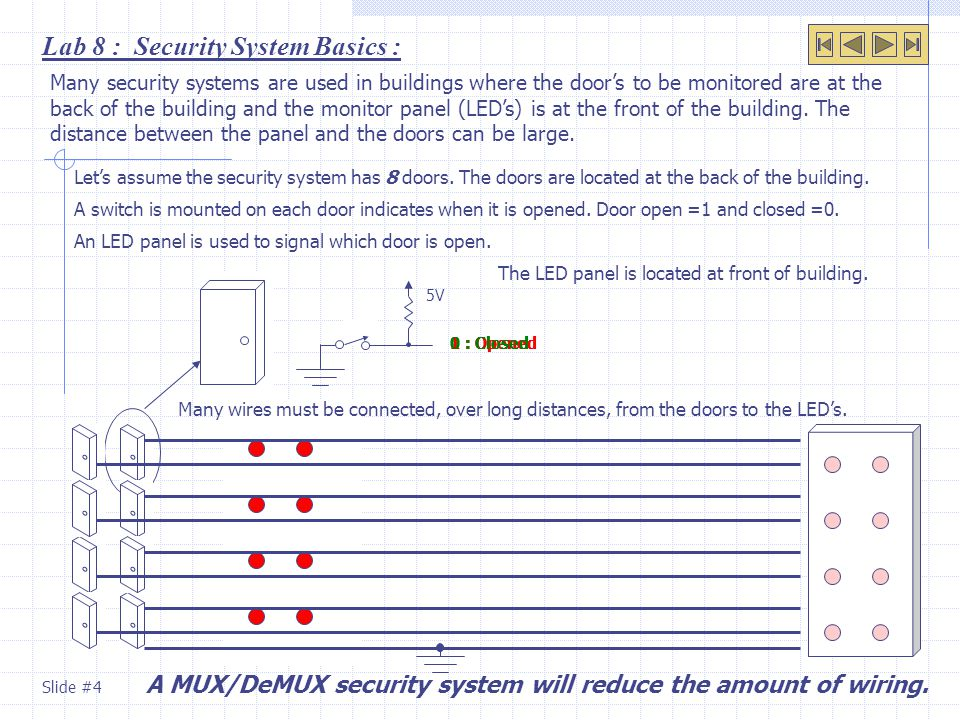 Lab 8 : Security System Basics :