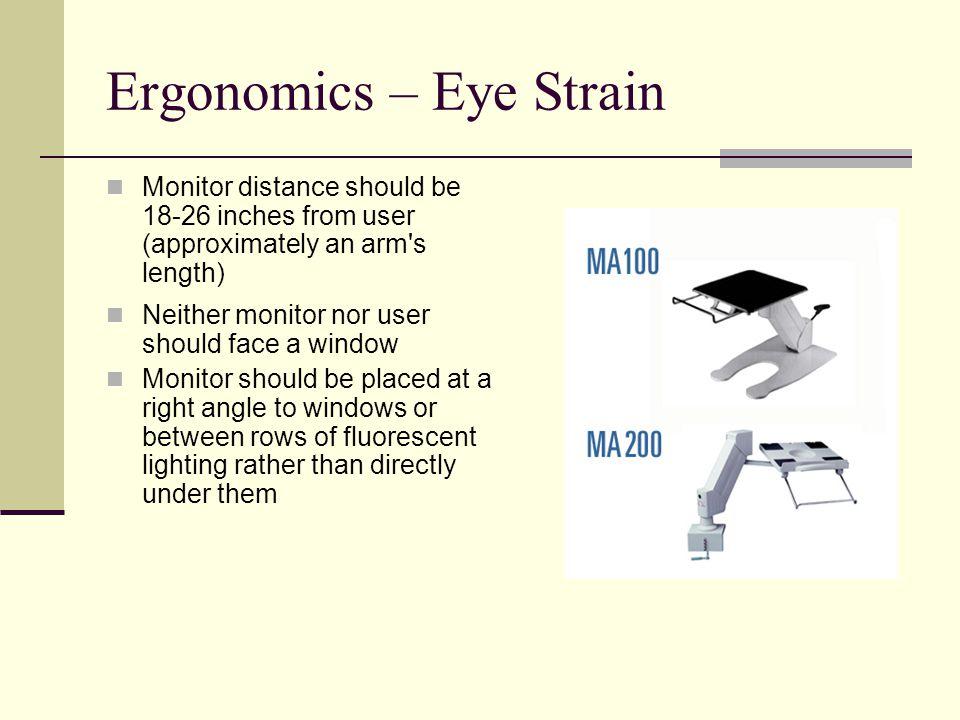 Ergonomics – Eye Strain