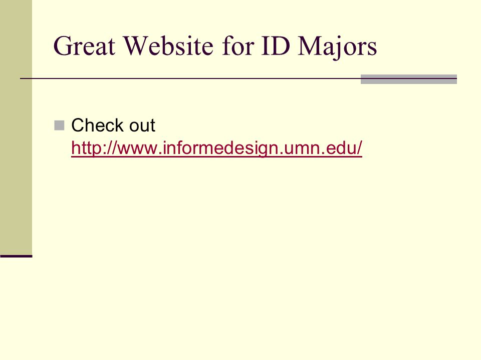 Great Website for ID Majors