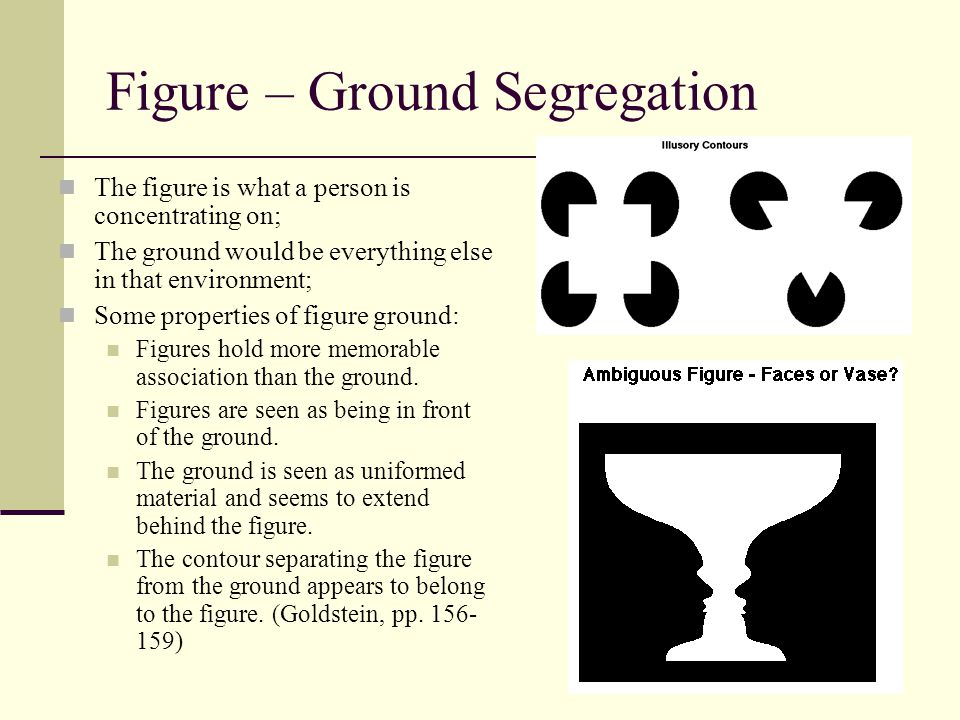 Figure – Ground Segregation