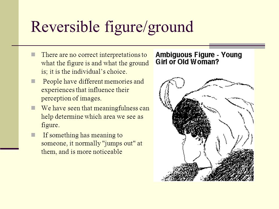 Reversible figure/ground