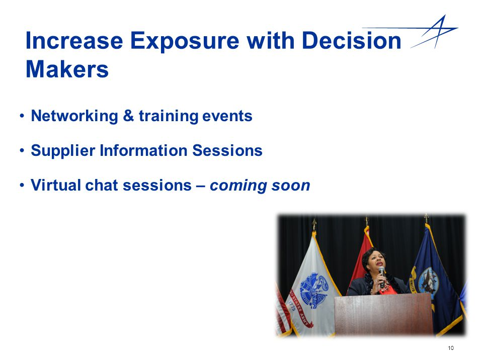Increase Exposure with Decision Makers