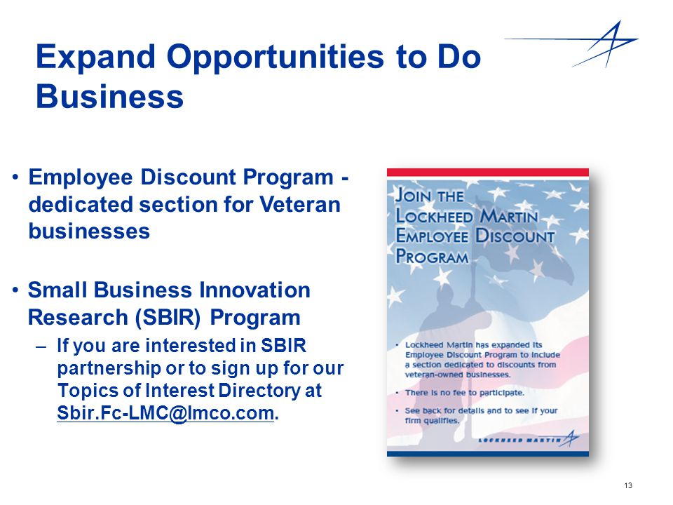 Expand Opportunities to Do Business