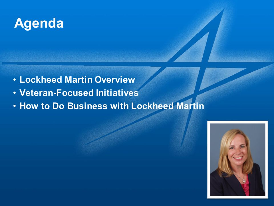 Agenda Lockheed Martin Overview Veteran-Focused Initiatives