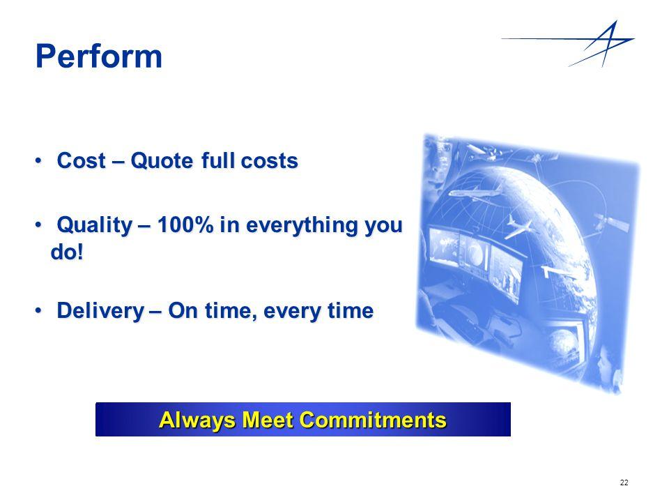 Always Meet Commitments