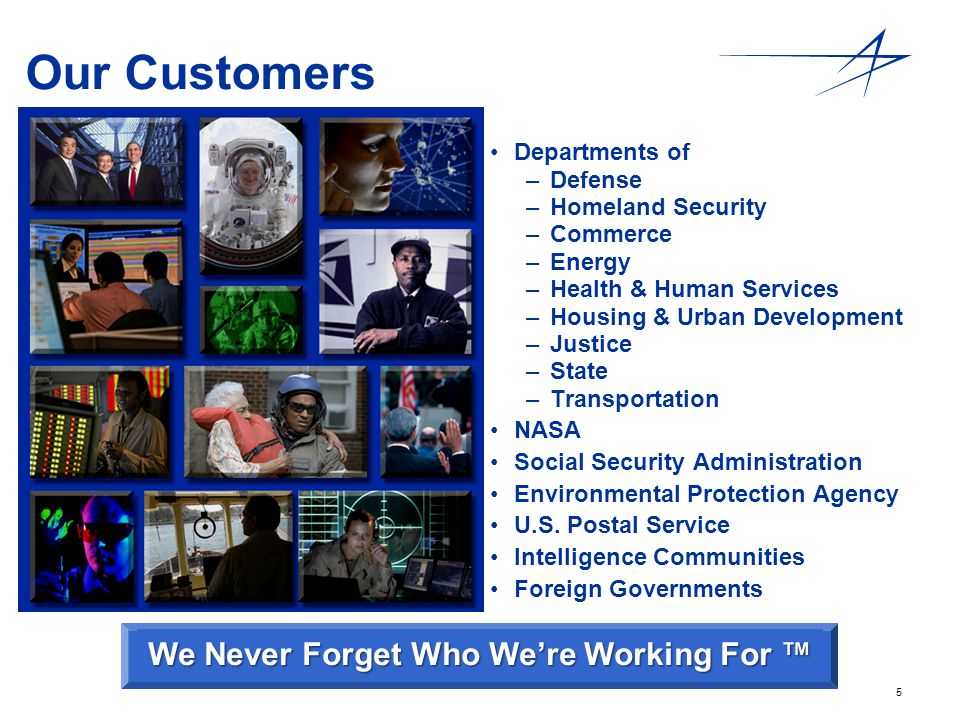 We Never Forget Who We're Working For ™