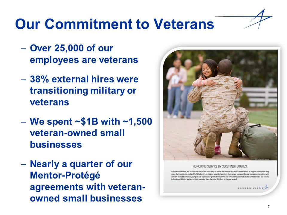 Our Commitment to Veterans