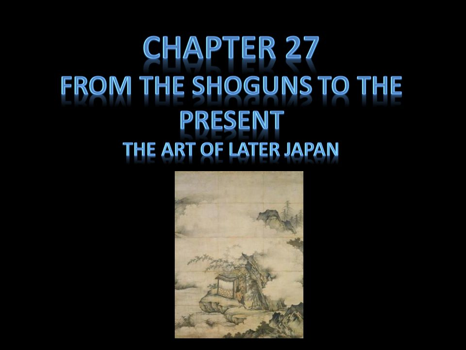 From the Shoguns to the present