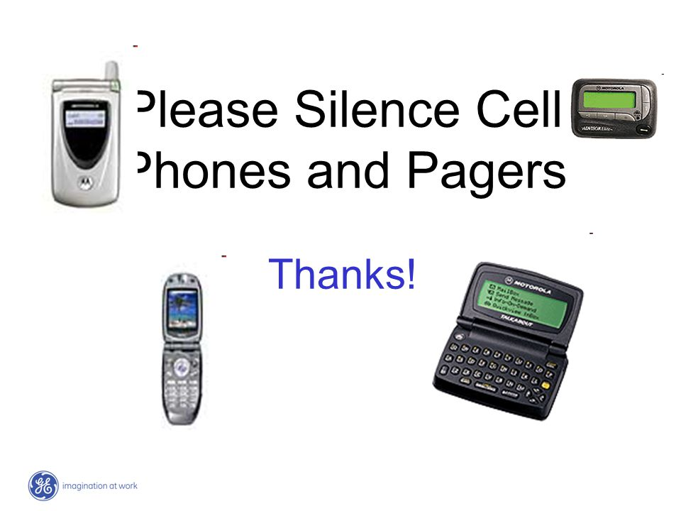 Please Silence Cell Phones and Pagers