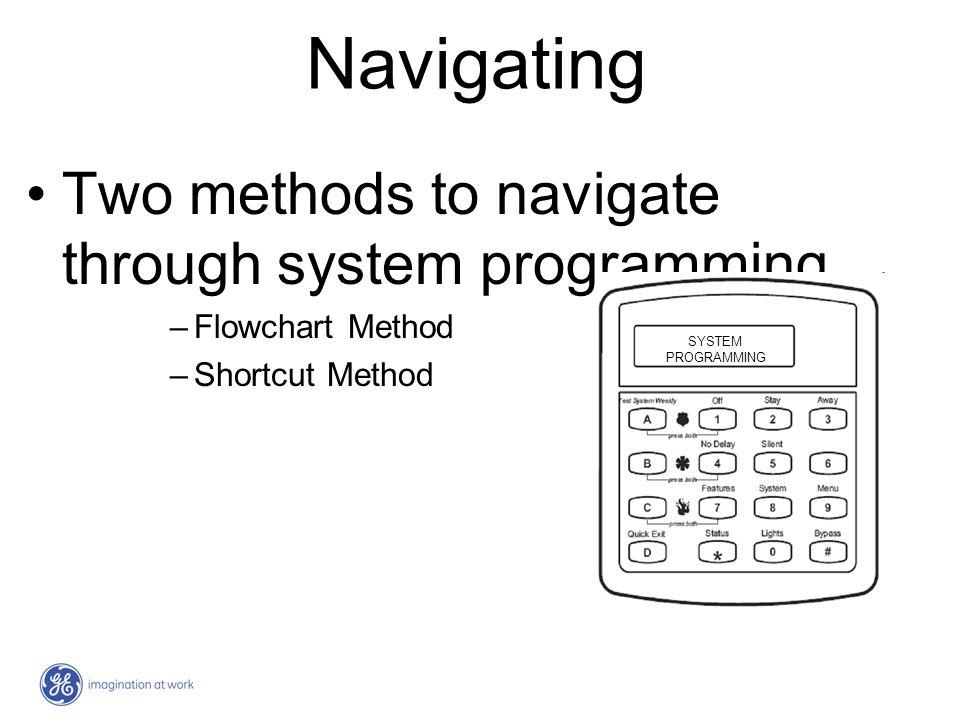 Navigating Two methods to navigate through system programming…