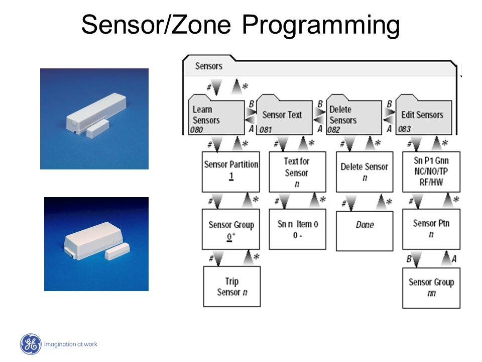 Sensor/Zone Programming