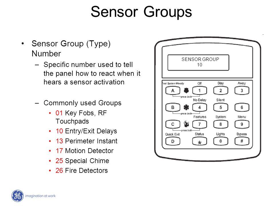 Sensor Groups Sensor Group (Type) Number