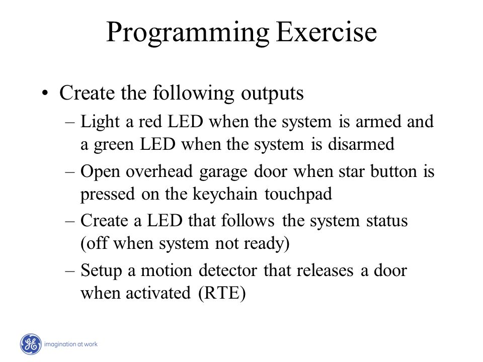 Programming Exercise Create the following outputs
