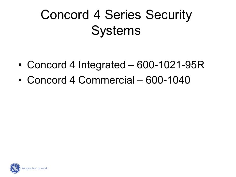 Concord 4 Series Security Systems