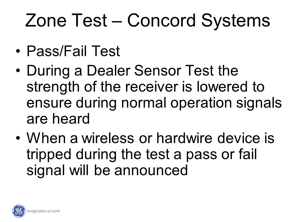 Zone Test – Concord Systems