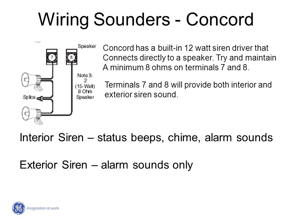 Wiring Sounders - Concord